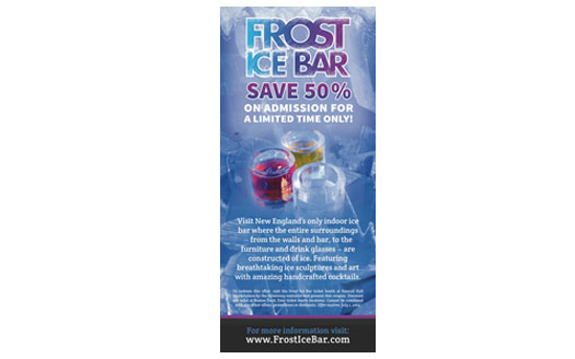 Frost Ice Bar Rack Card